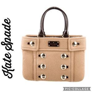 KATE SPADE NY Tan Felt Beantown Handbag